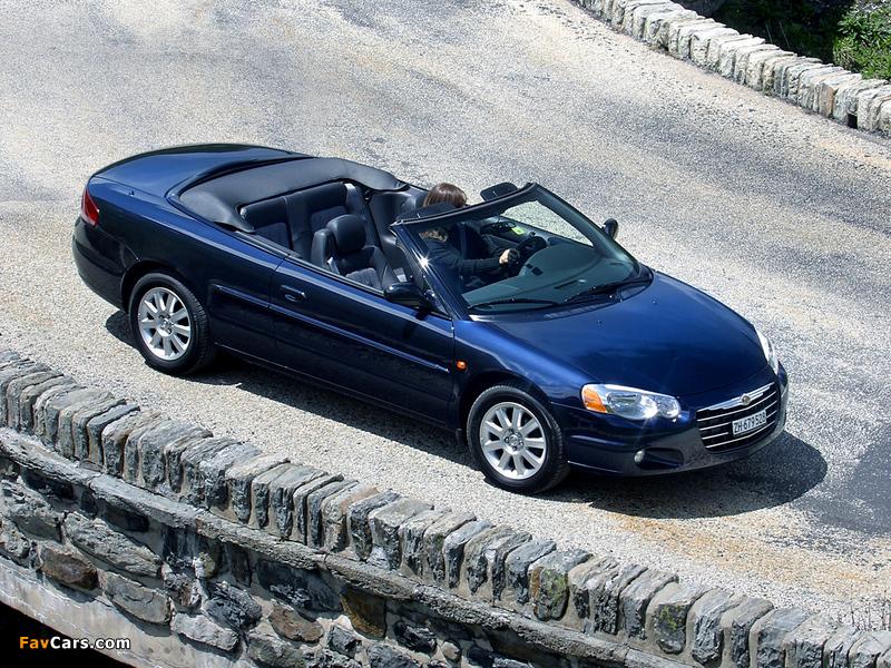 Chrysler Sebring Convertible EU-spec (JR) 2003–06 images (800 x 600)
