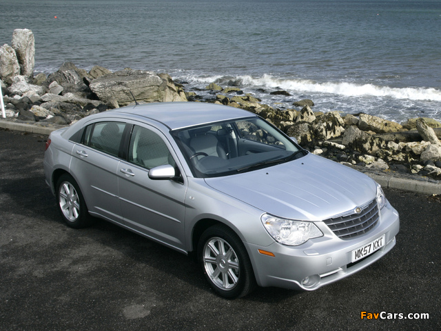 Chrysler Sebring Sedan UK-spec 2006–10 wallpapers (640 x 480)
