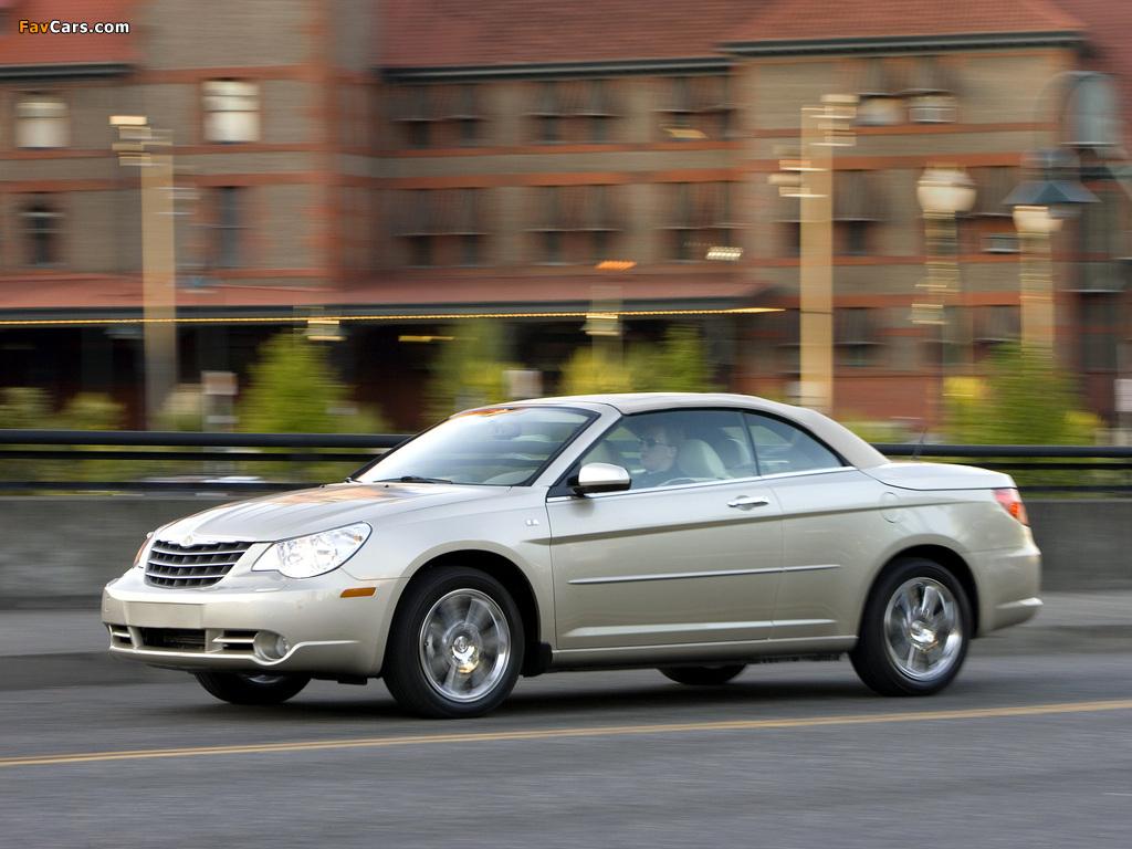 Chrysler Sebring Convertible 2007–11 wallpapers (1024 x 768)