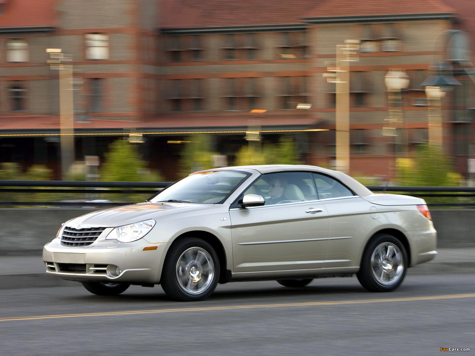 Chrysler Sebring Convertible 2007–11 wallpapers (1600 x 1200)