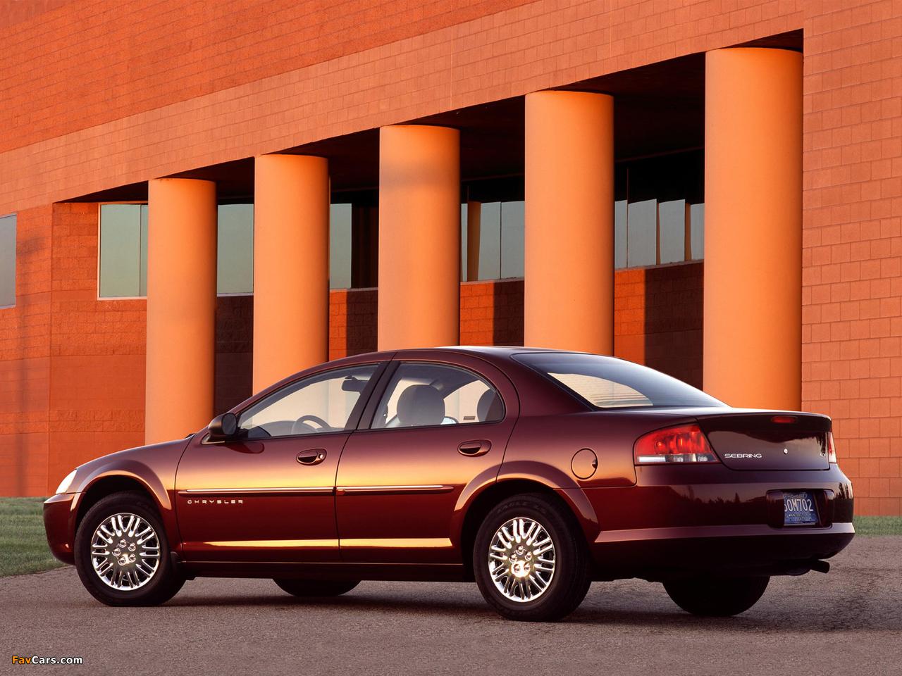 Photos of Chrysler Sebring Sedan 2001–04 (1280 x 960)