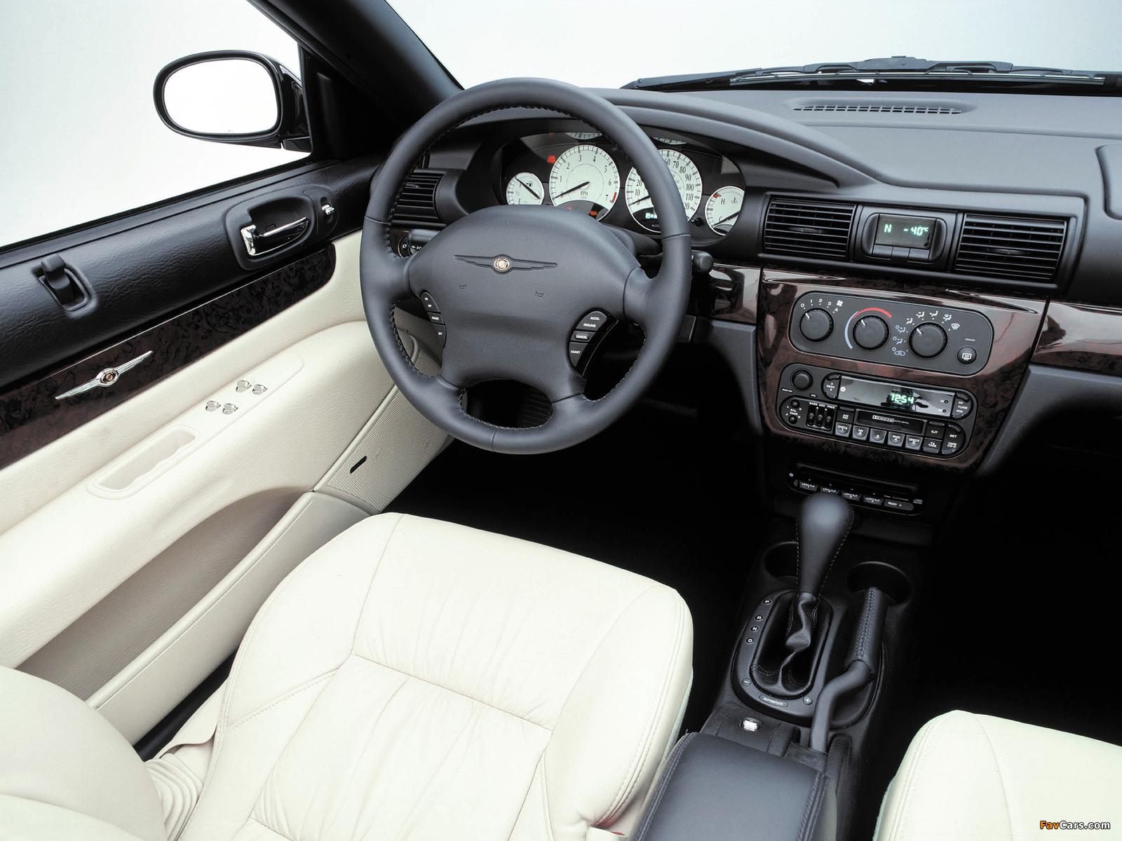 Chrysler Sebring Convertible 2001–04 wallpapers (1600 x 1200)