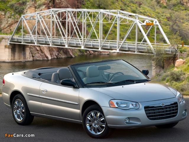 Chrysler Sebring Convertible (JR) 2003–06 wallpapers (640 x 480)