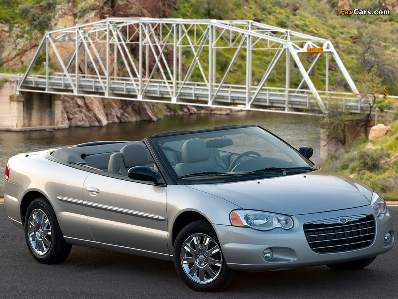 Chrysler Sebring Convertible (JR) 2003–06 wallpapers (800 x 600)