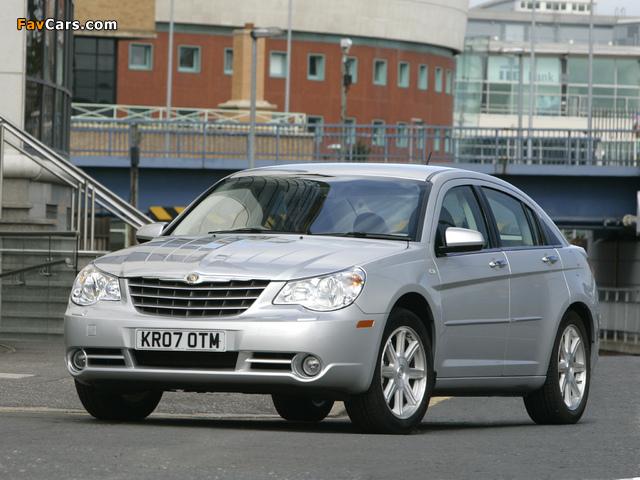 Chrysler Sebring Sedan UK-spec 2006–10 wallpapers (640 x 480)