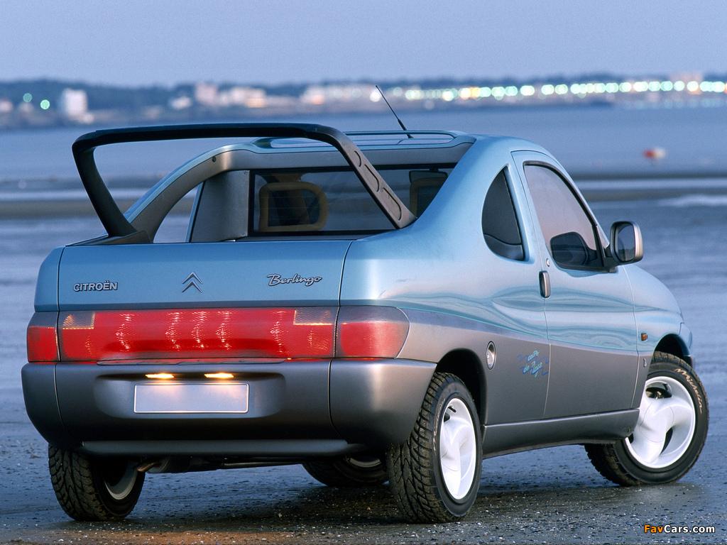 Citroën Berlingo Coupe de Plage Concept 1996 photos (1024 x 768)