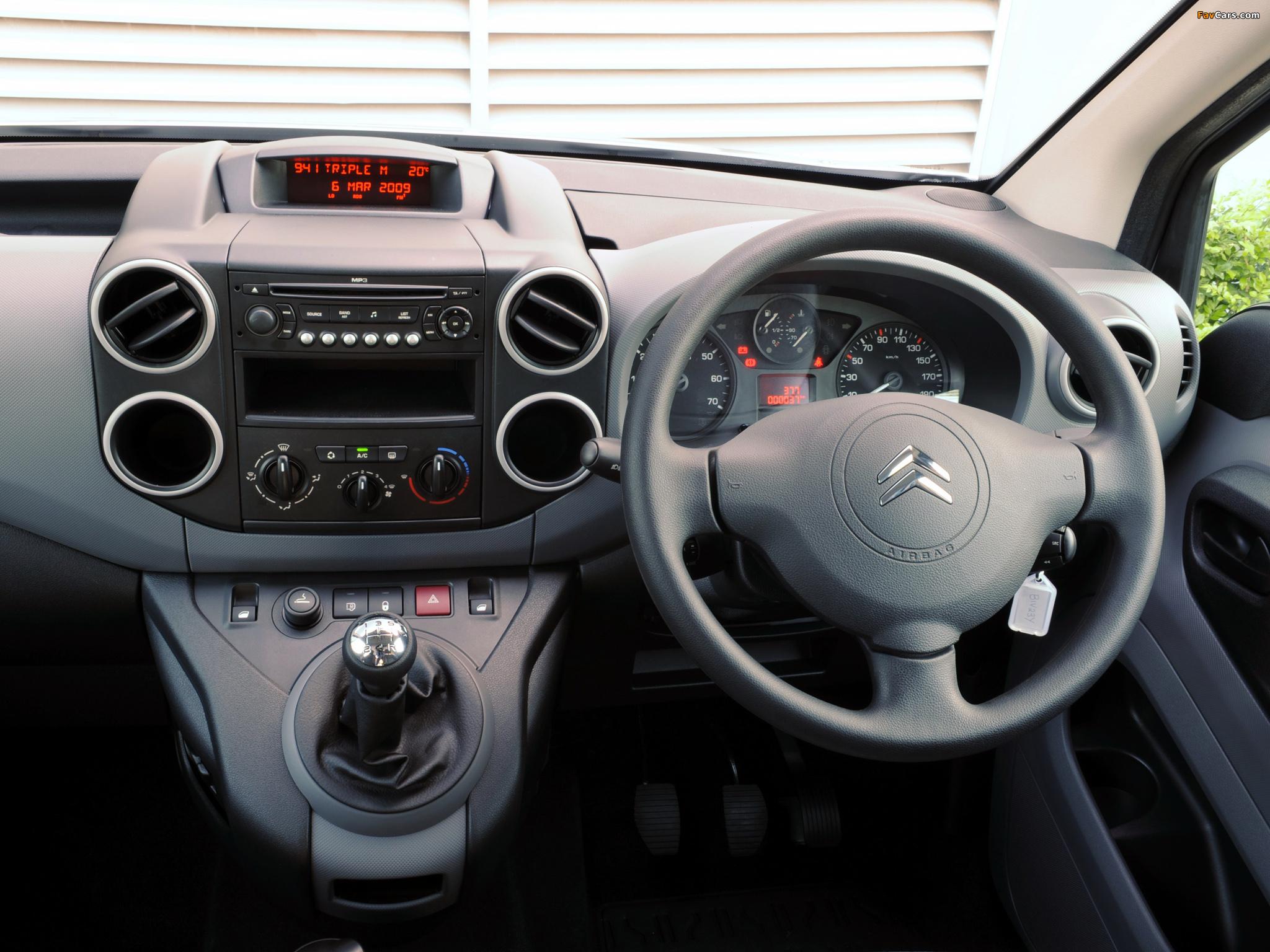 Citroën Berlingo Van AU-spec 2009–12 wallpapers (2048 x 1536)