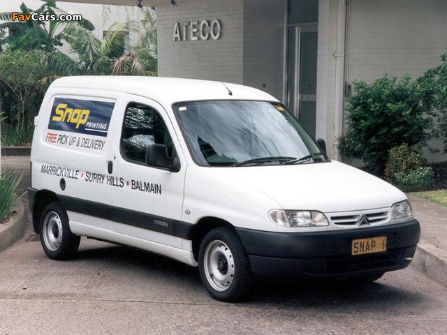 Images of Citroën Berlingo Van AU-spec 1996–2002 (640 x 480)