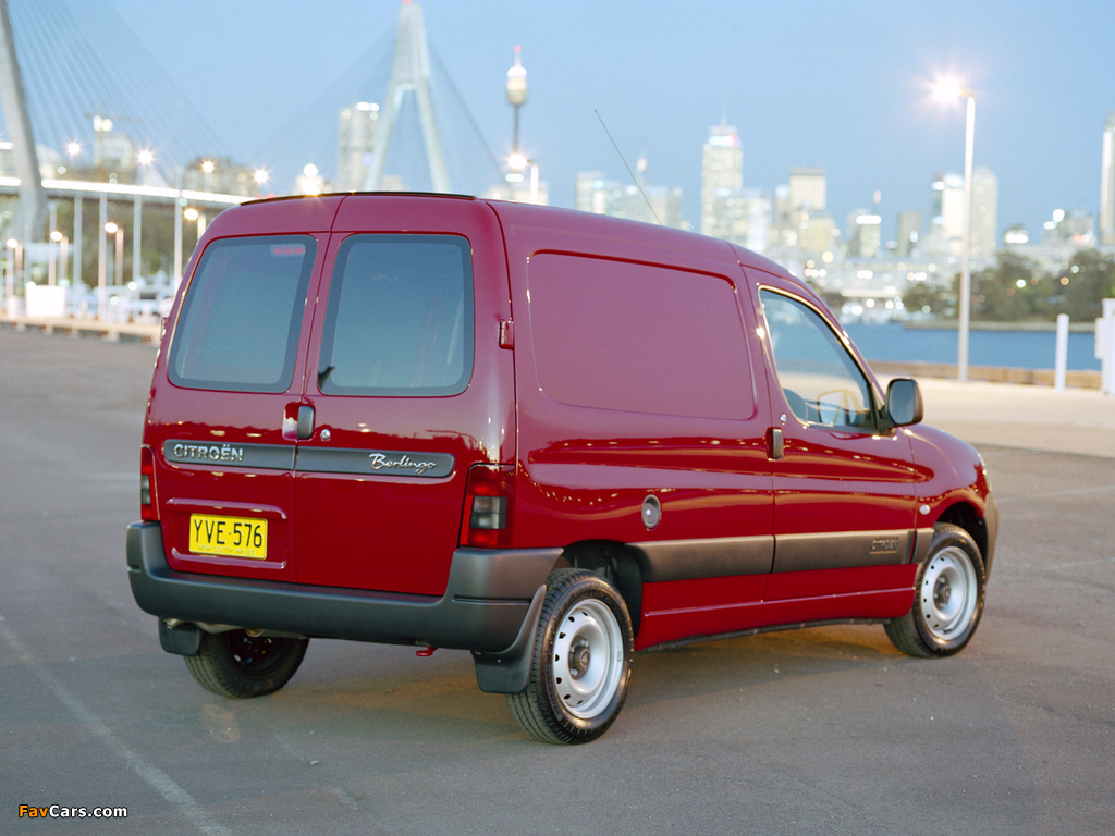 Images of Citroën Berlingo Van AU-spec 2002–09 (1024 x 768)
