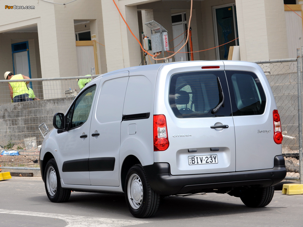 Images of Citroën Berlingo Van AU-spec 2009–12 (1024 x 768)