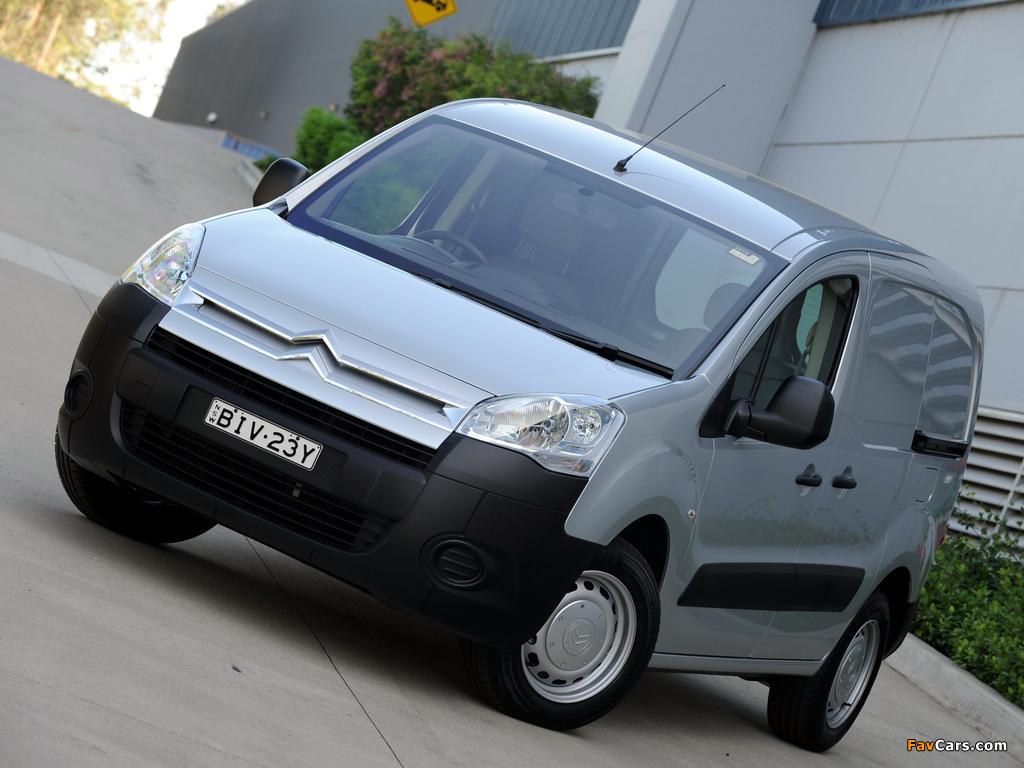 Pictures of Citroën Berlingo Van AU-spec 2009–12 (1024 x 768)