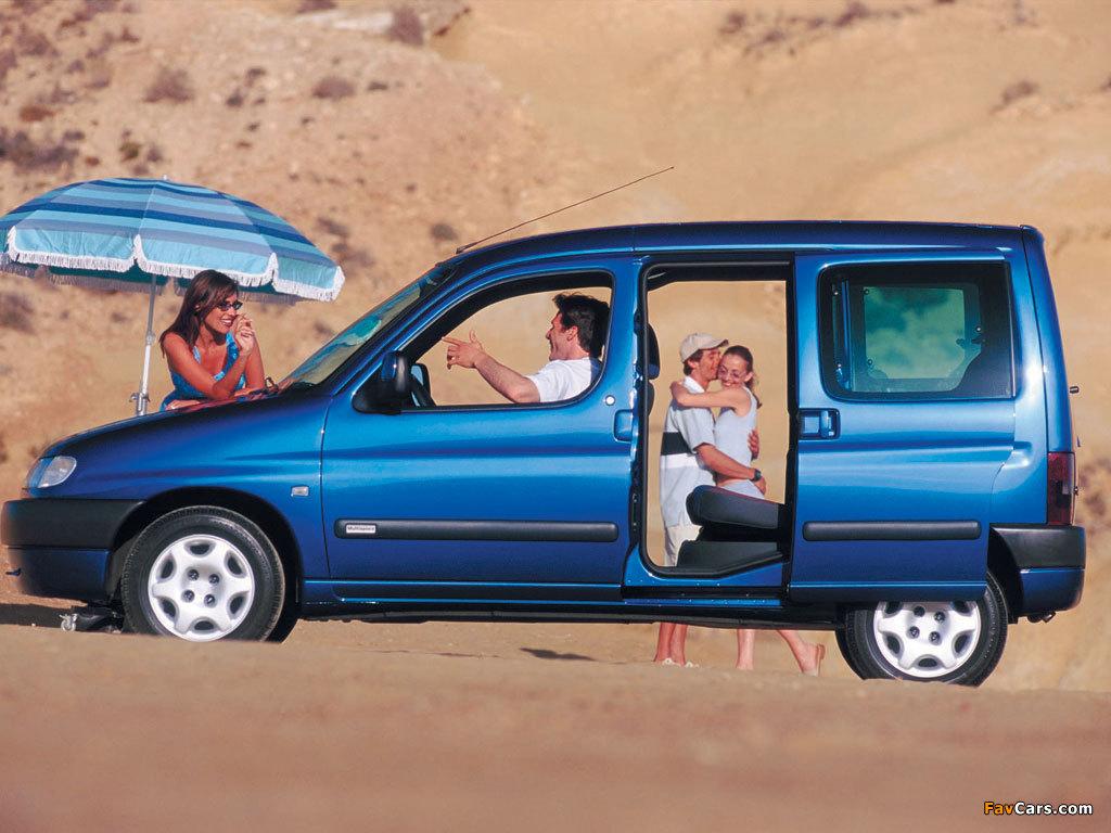 Citroën Berlingo Multispace 1996–2002 wallpapers (1024 x 768)
