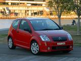 Citroën C2 VTS AU-spec 2004–08 pictures