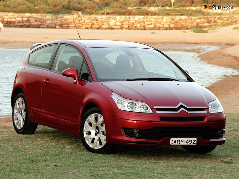 Citroën C4 Coupe AU-spec 2004–08 photos (800 x 600)
