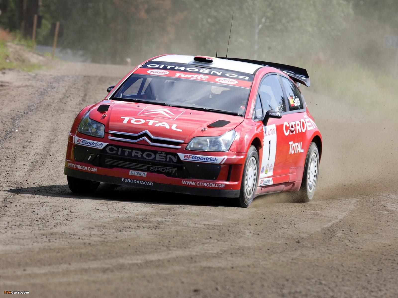 Citroën C4 WRC 2007–08 photos (1600 x 1200)