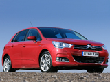 Citroën C4 UK-spec 2010 wallpapers