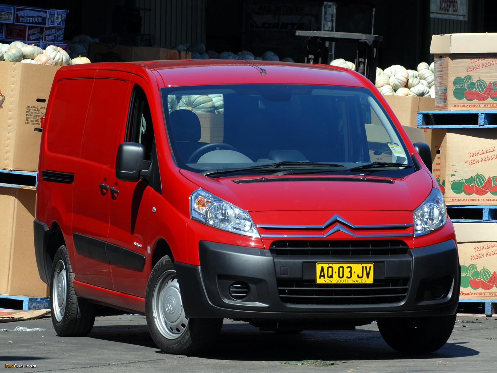 Citroën Dispatch Van LWB AU-spec 2009 pictures (1600 x 1200)