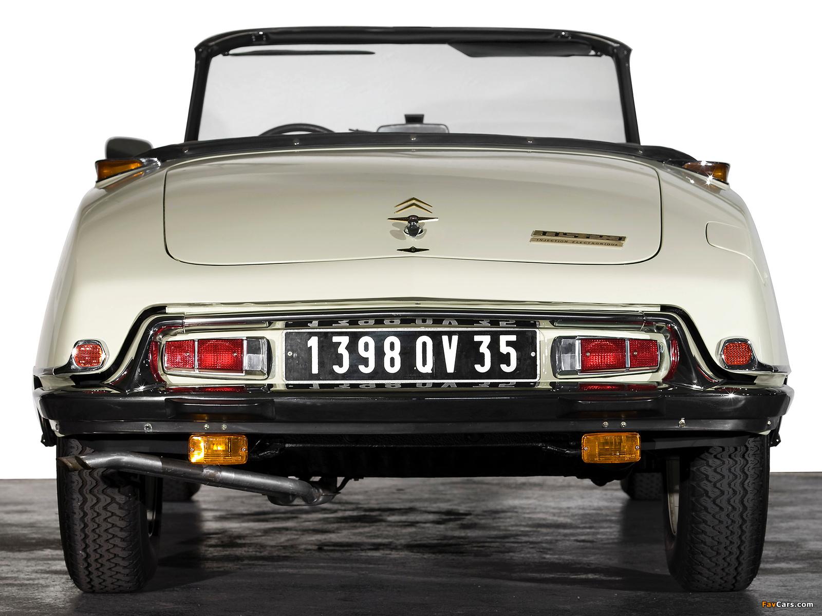 Pictures of Citroën DS 23 Cabriolet 1973–75 (1600 x 1200)