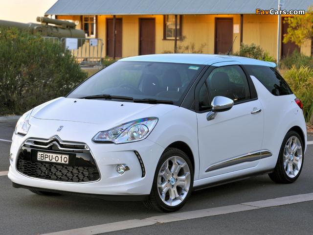 Citroën DS3 AU-spec 2009 images (640 x 480)