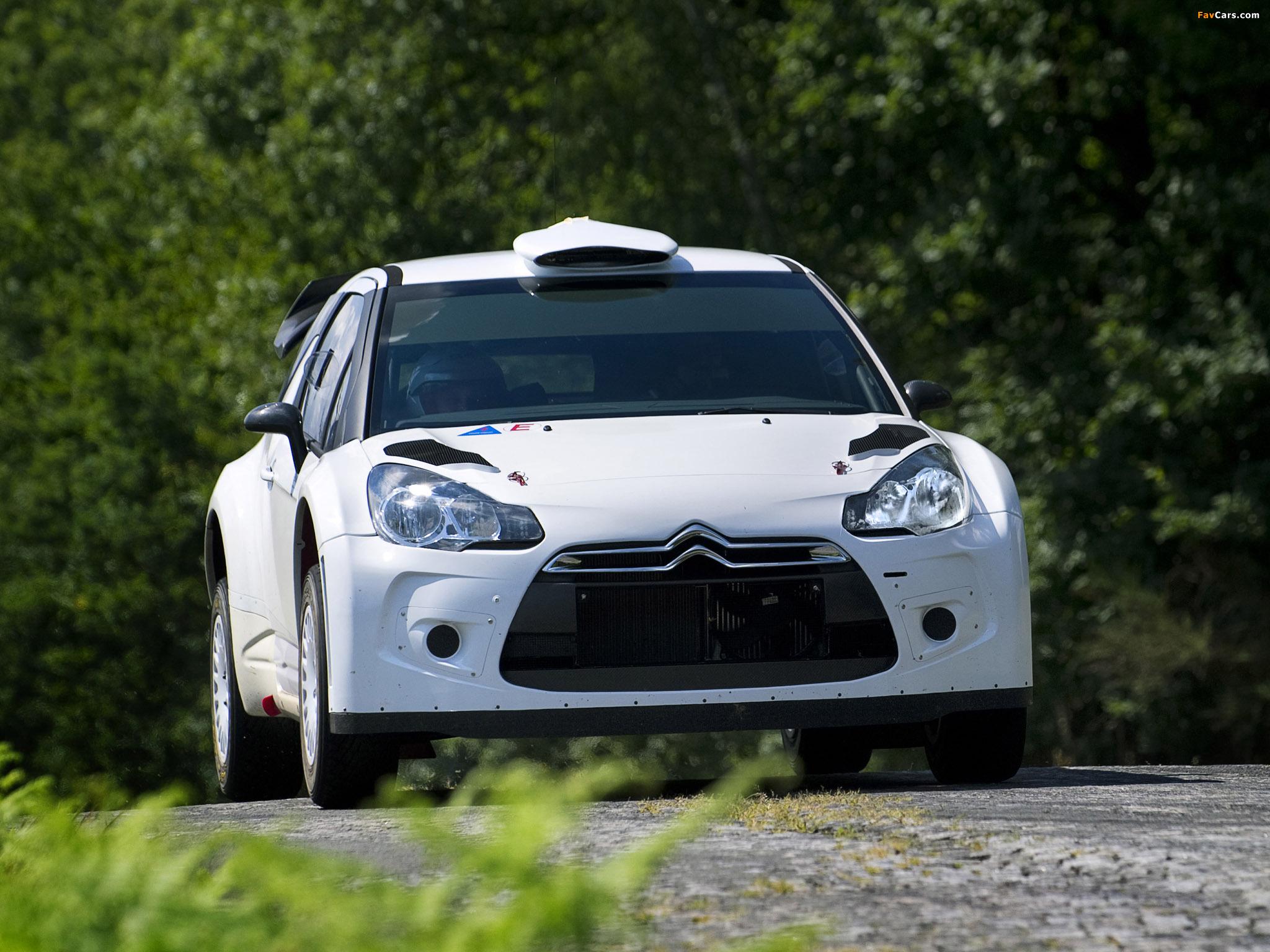 Photos of Citroën DS3 WRC Prototype 2010 (2048 x 1536)