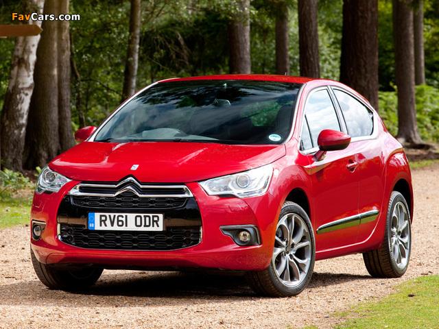 Citroën DS4 UK-spec 2010 pictures (640 x 480)