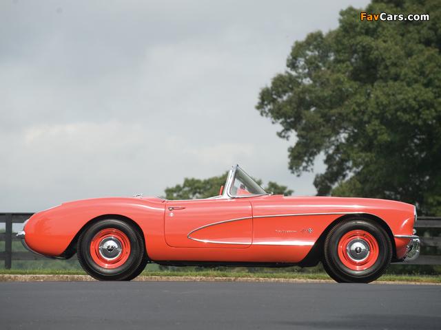 Corvette C1 Airbox COPO Race Car (RPO 579E) 1957 wallpapers (640 x 480)