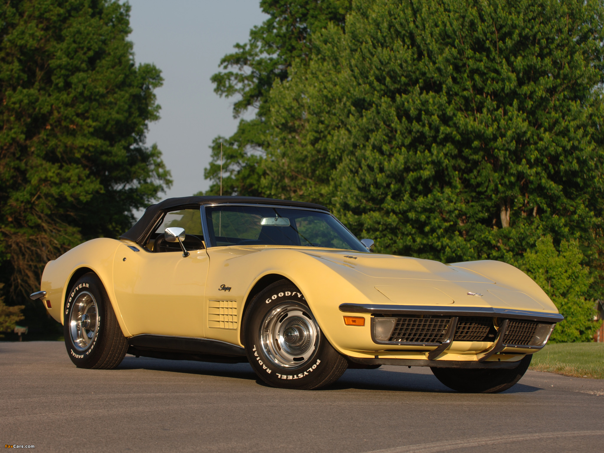 corvette stingray convertible c3 1970 72 wallpapers 2048x1536. Black Bedroom Furniture Sets. Home Design Ideas