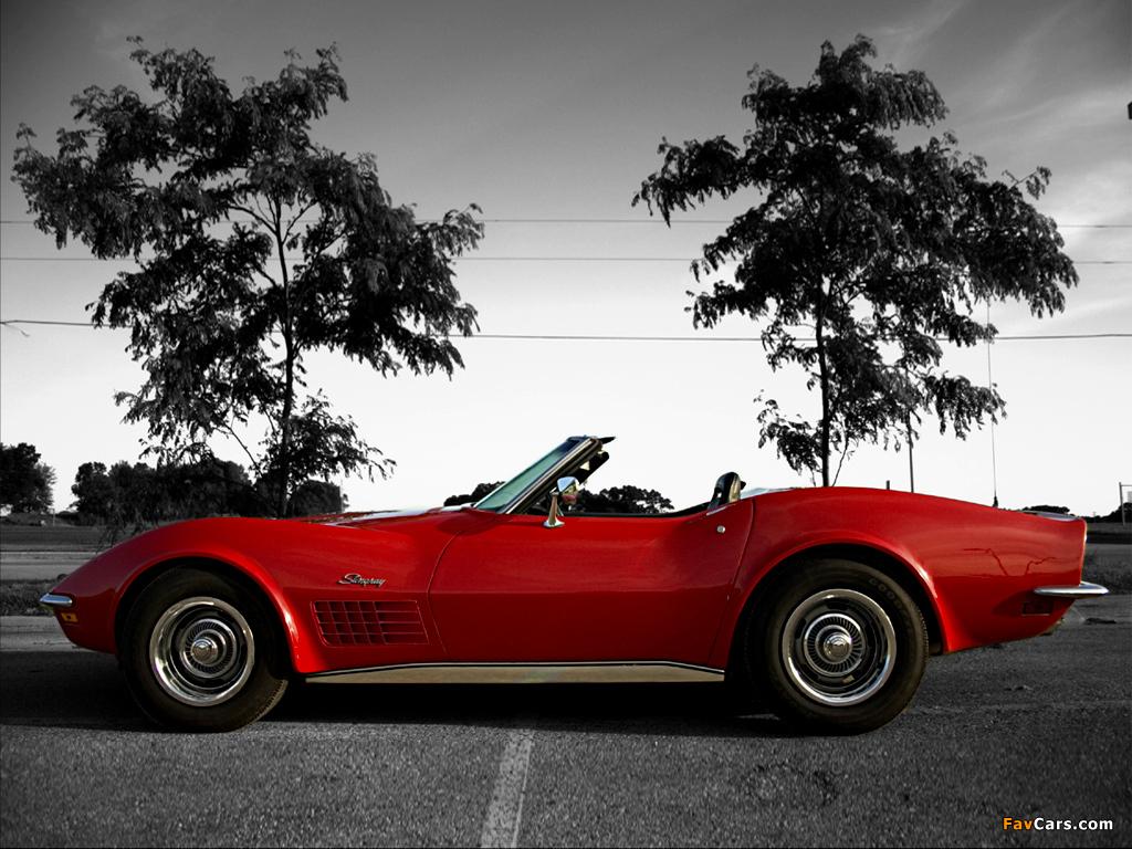Corvette Stingray Convertible C3 1970 72 Wallpapers