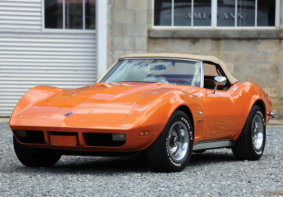 Corvette Stingray Convertible C3 1973 Wallpapers