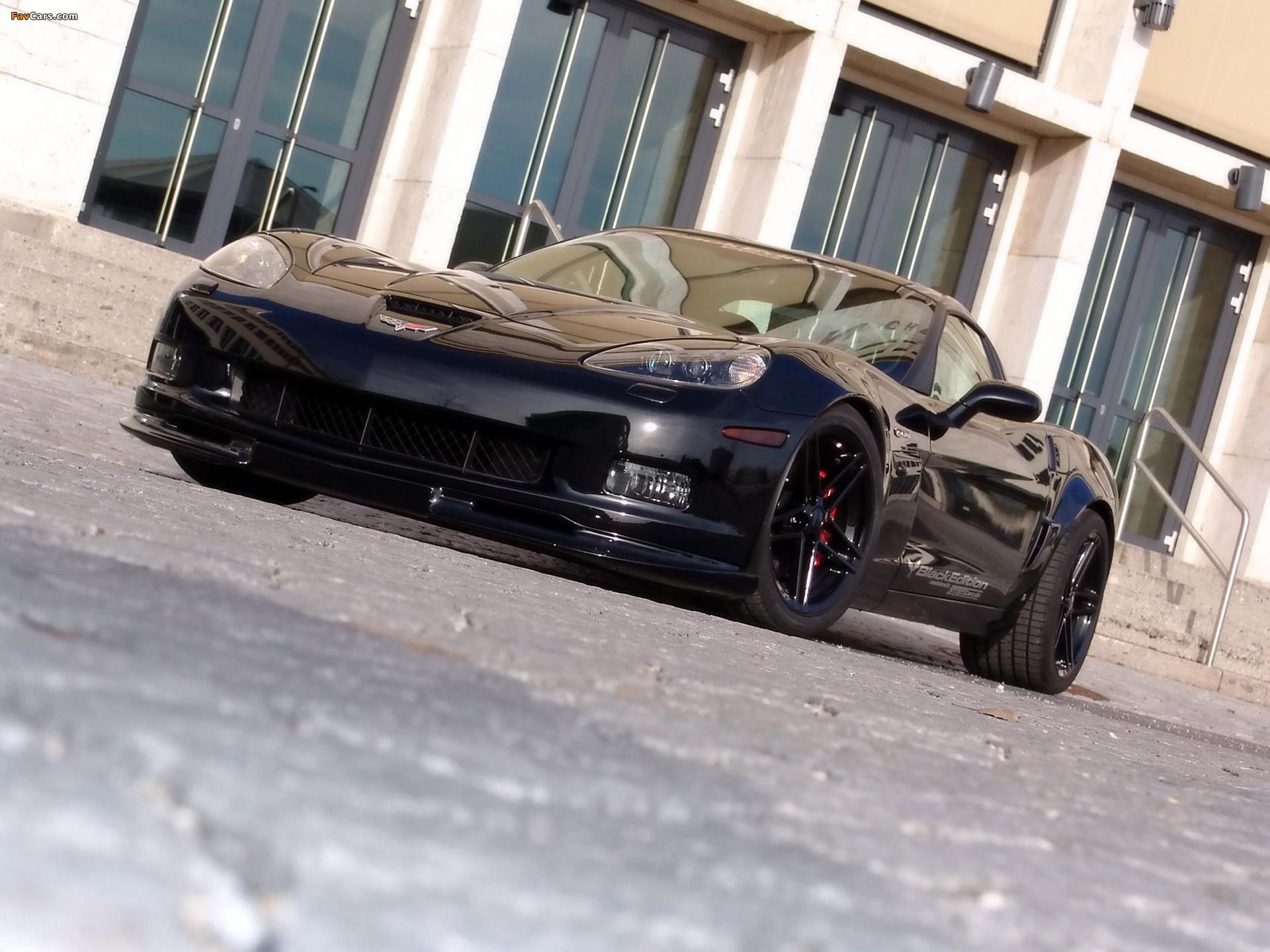 черный автомобиль corvette c6 z06 бесплатно