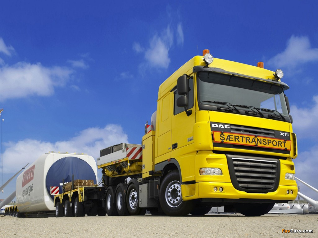 DAF XF105 8x4 FTM Space Cab 2006–12 images (1024 x 768)