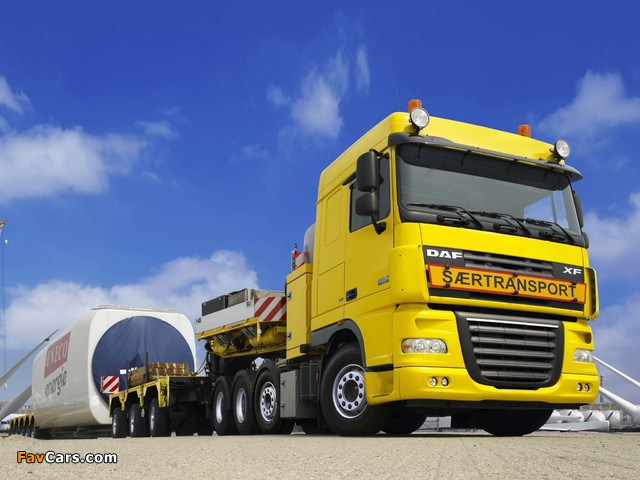 DAF XF105 8x4 FTM Space Cab 2006–12 images (640 x 480)