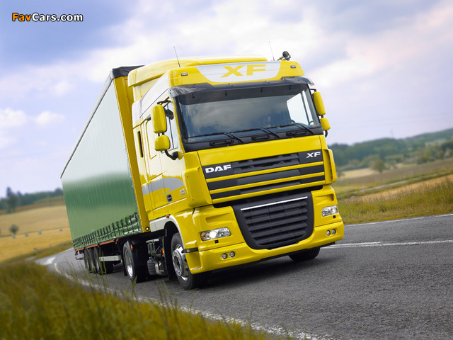 DAF XF105 4x2 FT Space Cab 2006–12 wallpapers (640 x 480)