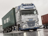 DAF XF 510 6×2 FTG Super Space Cab UK-spec 2013 wallpapers