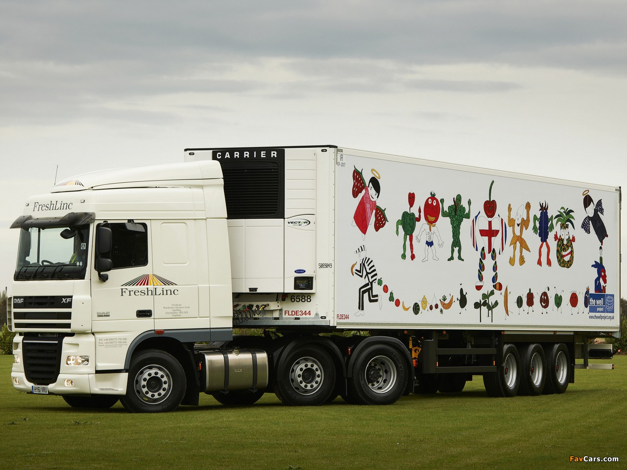Images of DAF XF105 6x2 FTG Space Cab UK-spec 2006–12 (1280 x 960)
