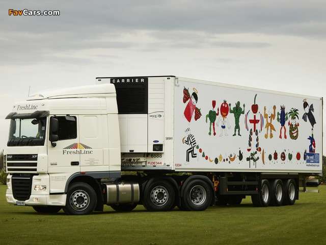 Images of DAF XF105 6x2 FTG Space Cab UK-spec 2006–12 (640 x 480)