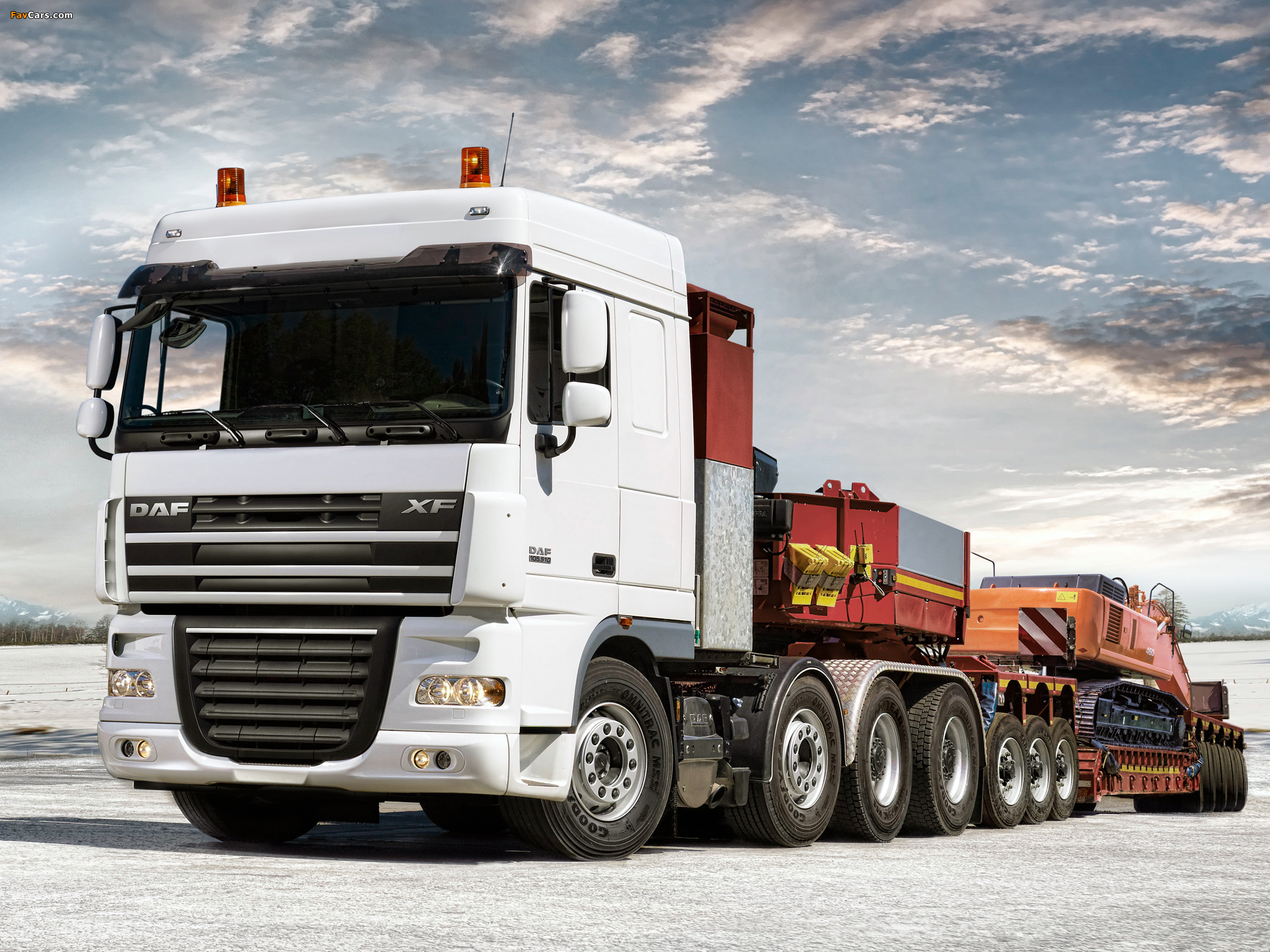 Images of DAF XF105 8x4 FTM Space Cab 2006–12 (2048 x 1536)