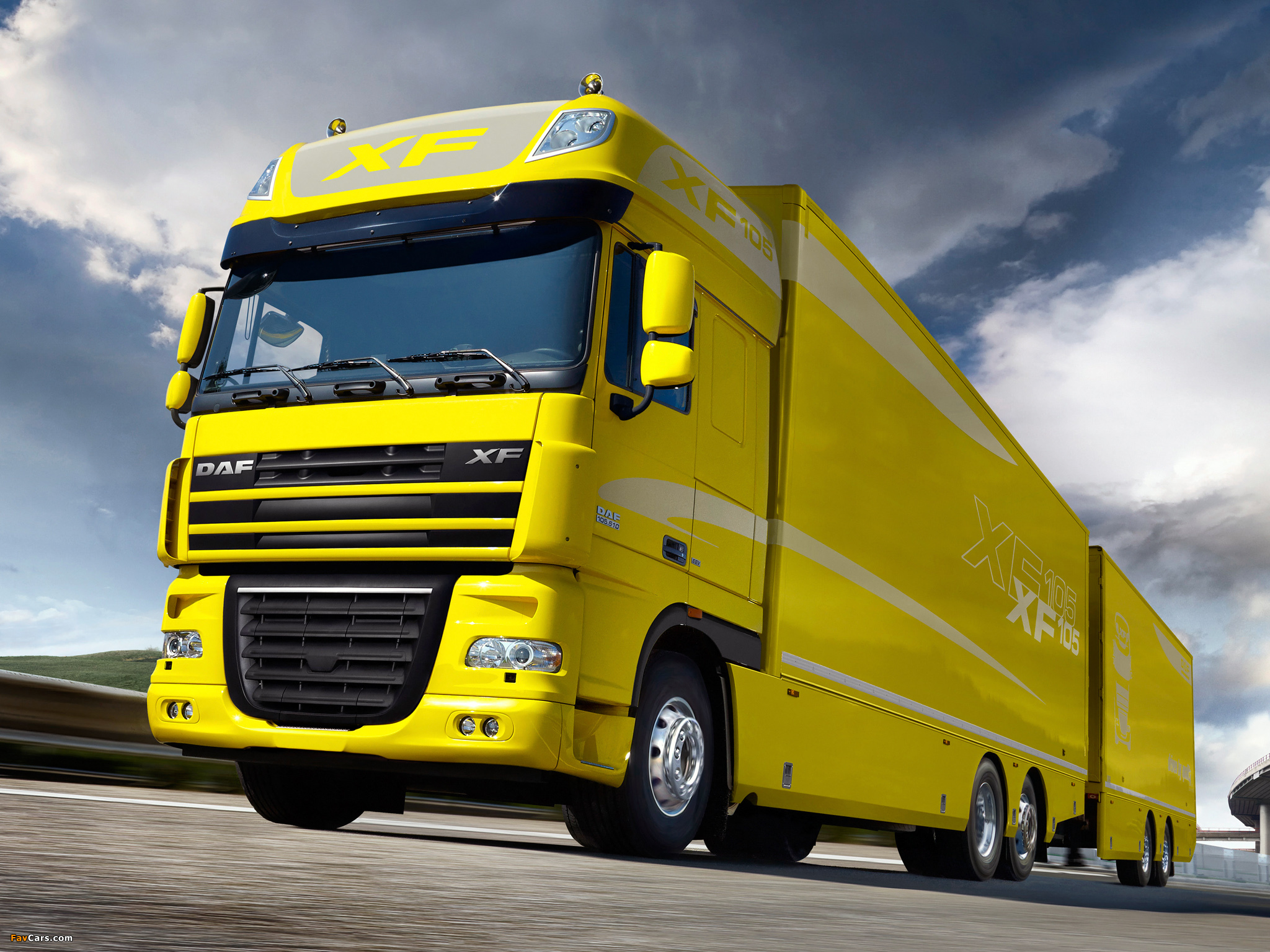 Images of DAF XF105 6x2 FAS Super Space Cab 2006–12 (2048 x 1536)
