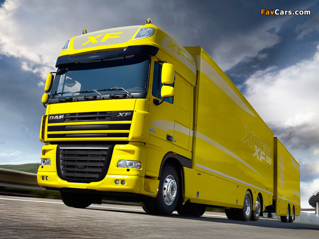 Images of DAF XF105 6x2 FAS Super Space Cab 2006–12 (640 x 480)