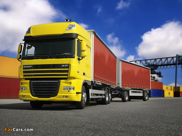 Pictures of DAF XF105 6x2 FAS Super Space Cab 2006–12 (640 x 480)