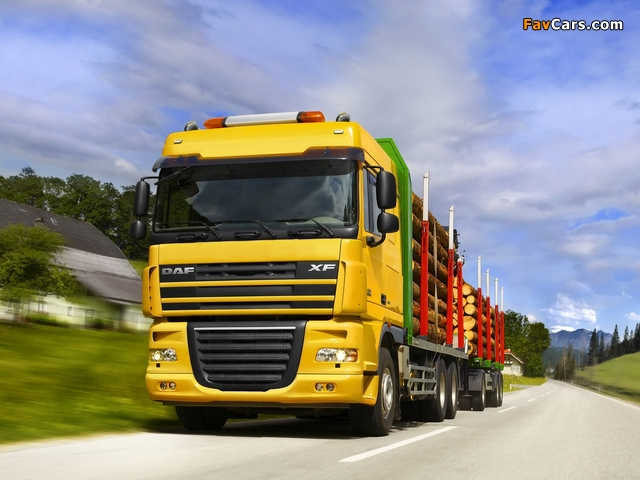 DAF XF105 Timber Truck 2006 wallpapers (640 x 480)