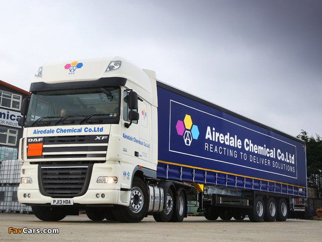 DAF XF105 6x2 FTG Super Space Cab UK-spec 2006–12 wallpapers (640 x 480)