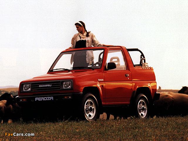 Daihatsu Feroza Soft Top 1989–94 pictures (640 x 480)