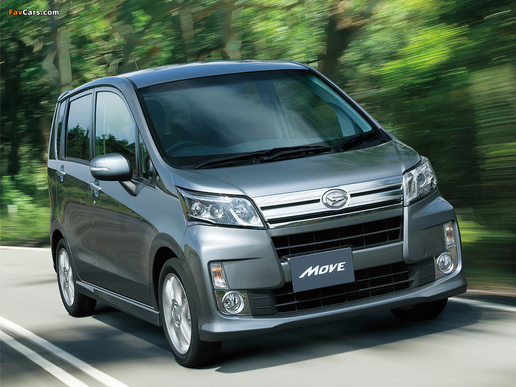 Daihatsu Move Custom (LA110S) 2012 wallpapers (1024 x 768)