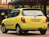 Images of Daihatsu Sirion UK-spec 1998–2001