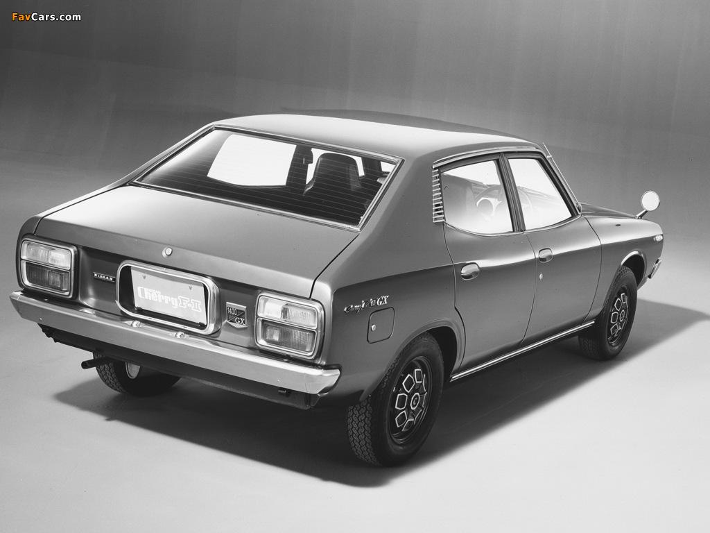 Pictures of Nissan Cherry F-II 4-door Sedan (F10) 1974–78 (1024 x 768)