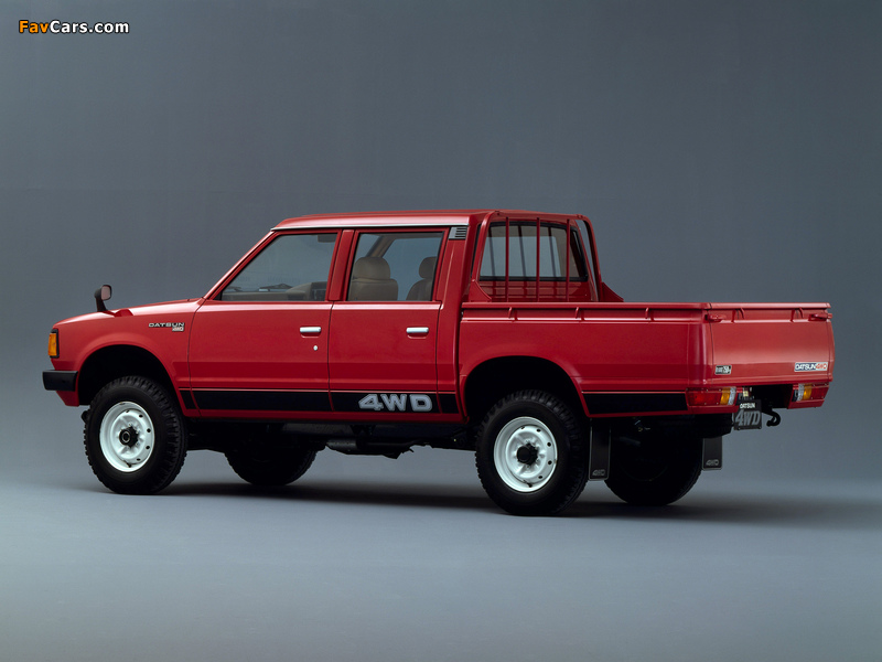 Datsun Pickup 4WD Double Cab JP-spec (720) 1980–83 wallpapers (800 x 600)
