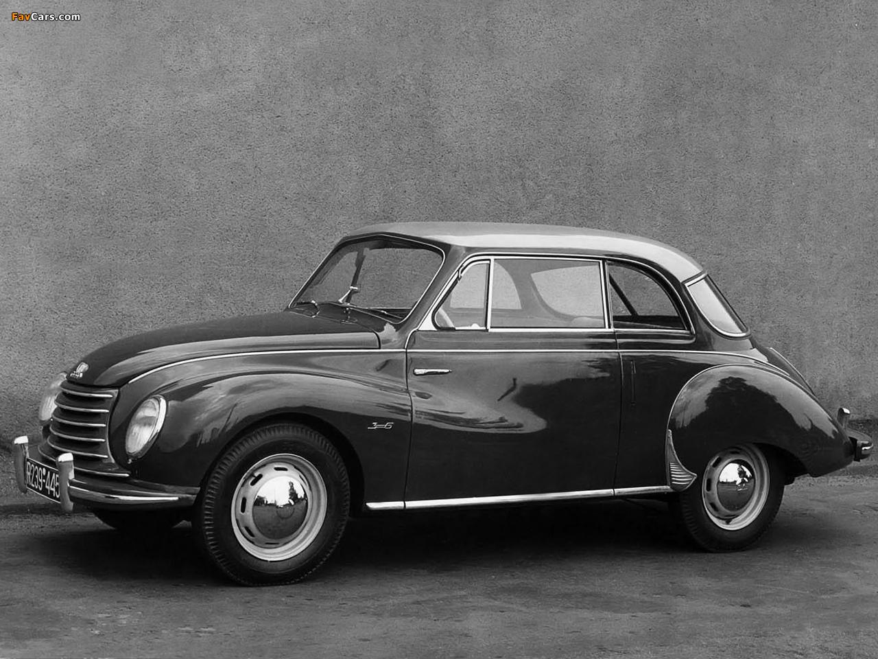DKW 3=6 Sonderklasse Limousine Spezial (F91) 1953–55 images (1280 x 960)