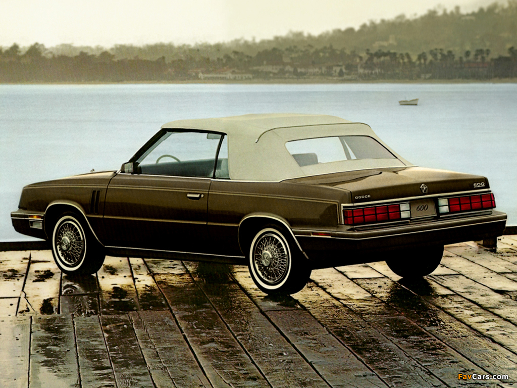 Dodge 600 Convertible 1985 pictures (1024 x 768)