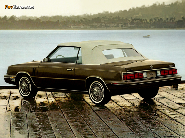 Dodge 600 Convertible 1985 pictures (640 x 480)